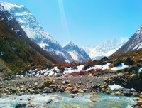 Beautiful Himalayan range at Everest Trail