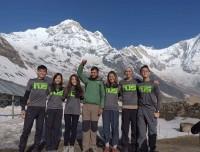 Enjoying-Trekkers-at-Annapurna-Base-Camp