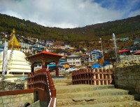 Entry point at Namche Bazar