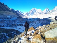 Hard trail towards Everest Base Camp