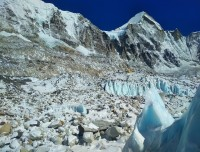 Ice Glacier at Everes Base Camp