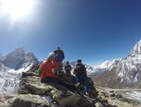 Trekkers Taking Photos at Everest