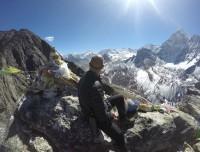 Trekkers having fun at Everest Base Camp