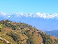 beautiful hillside village and panoramic view from Shivapuri National park