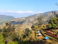 mountain village view of  kchisapani nagarakot trek