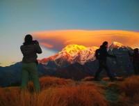 stunning sunrise view from mardi himal trek