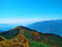 view from mardi himal trekking in nepal