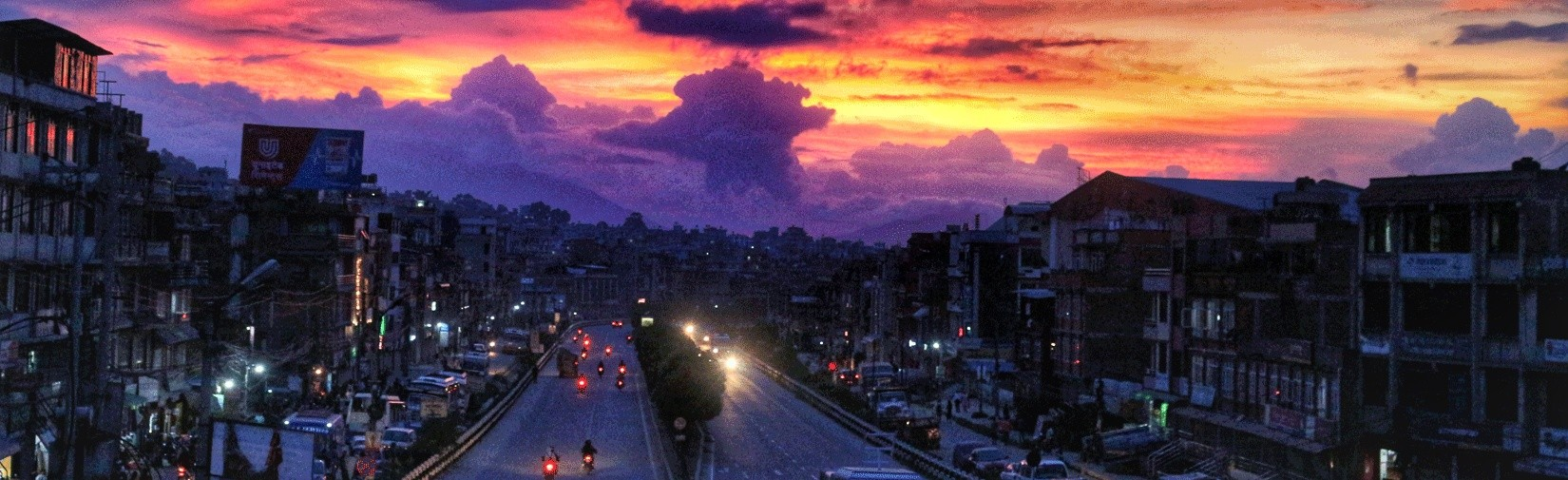 Amazing sunset view from Kathmandu Valley