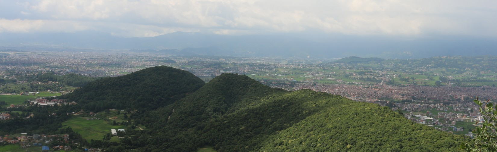 View of Kathmandu valley from Ranikot hiking trail
