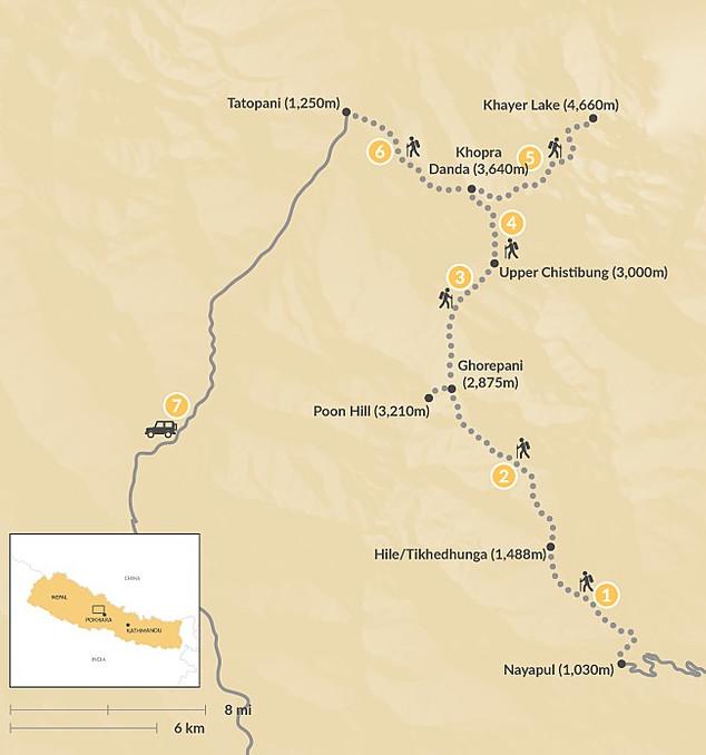 Khopra Danda Trek 10 Days map